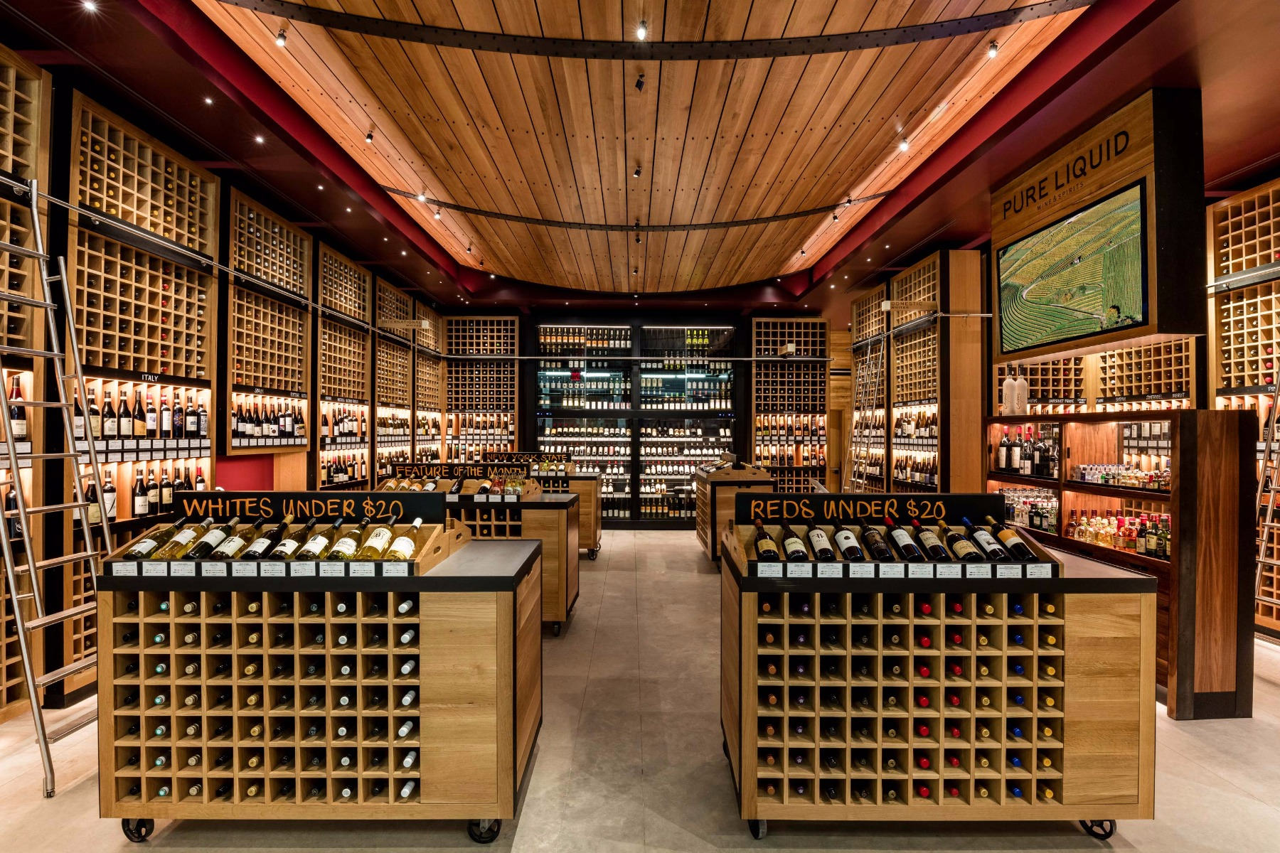 Pure Liquid Wine & Spirits Interior